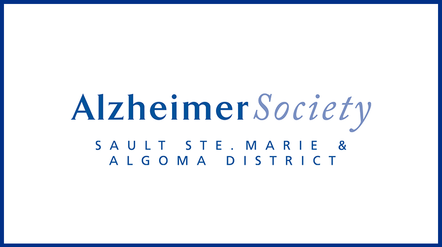 Alzheimer Society of Sault Ste. Marie and Algoma District wordmark and identifier.