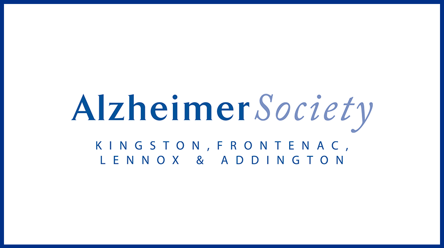 Alzheimer Society of Kingston, Frontenac, Lennox & Addington wordmark and identifier.