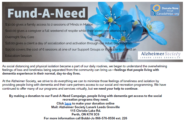 Fund-A-Need poster.