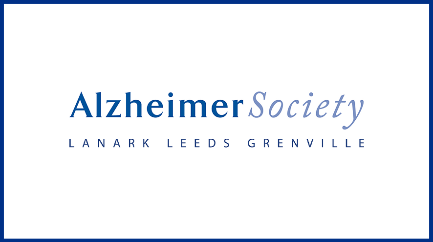 Alzheimer Society of Lanark Leeds Grenville wordmark and identifier.
