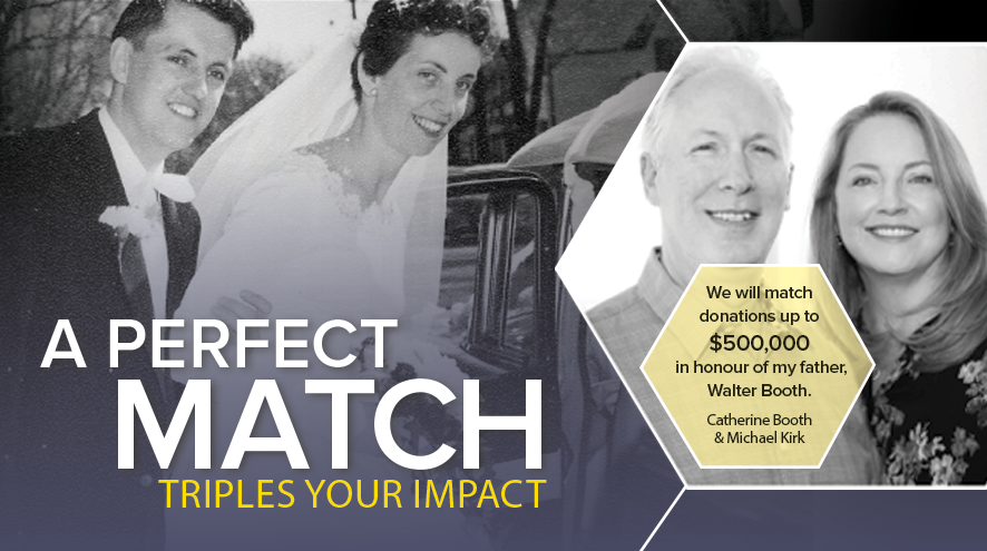 A Perfect Match. Triples Your Impact.