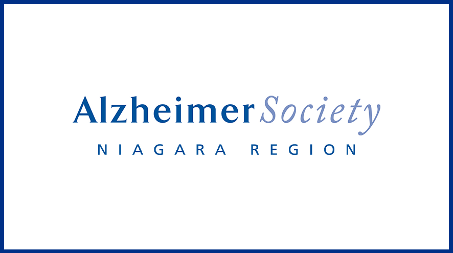 Alzheimer Society of Niagara Region wordmark and identifier.