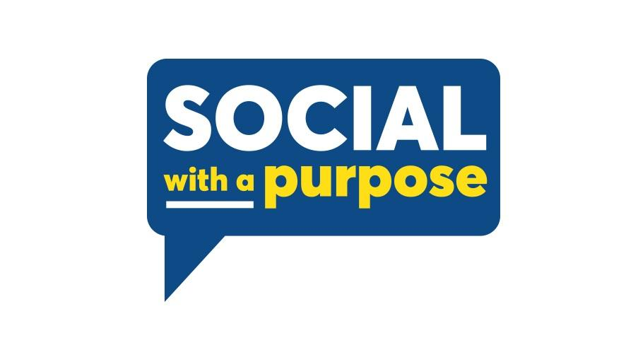 Social with a purpose logo.