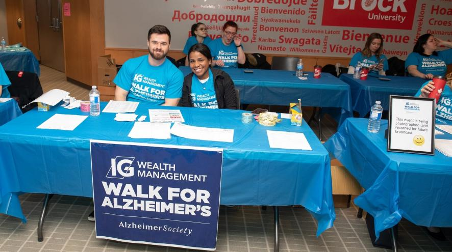 Volunteers at the IG Wealth Management Walk for Alzheimer's in Niagara Region.