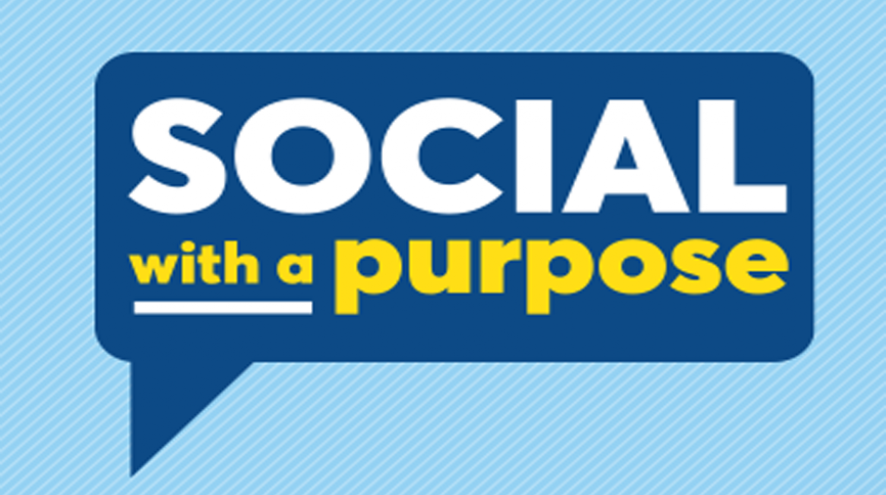 Social with a purpose logo