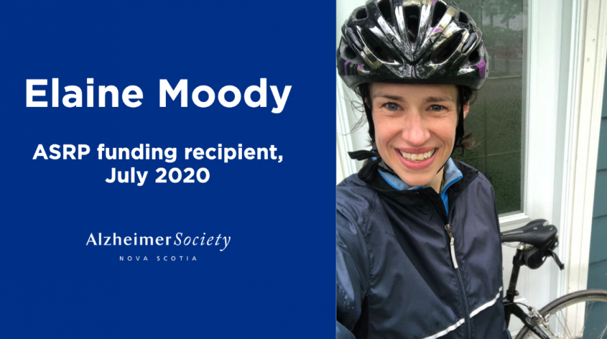 Elaine Moody ASRP funding recipient, July 2020