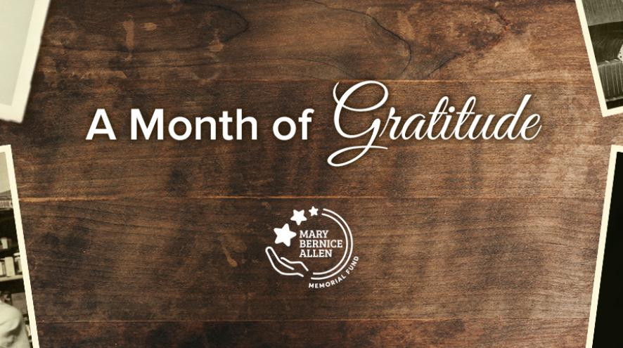A Month of Gratitude