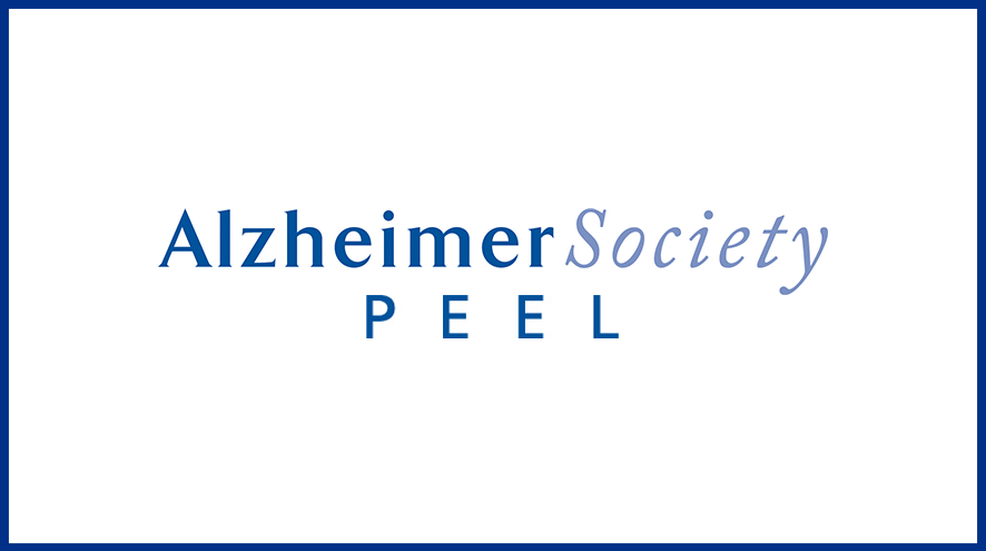 Alzheimer Society Peel wordmark and identifier.