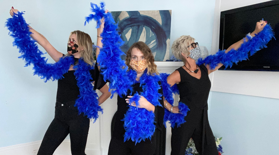 Alzheimer Society PEI Team & Blue Boas