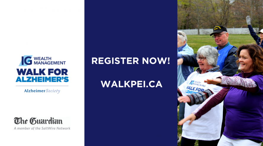 walkpei.ca to register for our IG Wealth Management Walk for Alzheimer's!