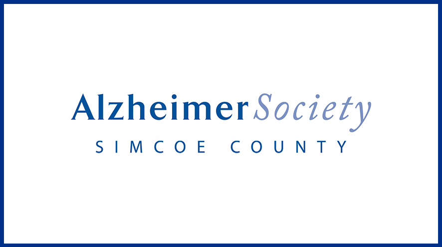 Alzheimer Society of Simcoe County wordmark and identifier.