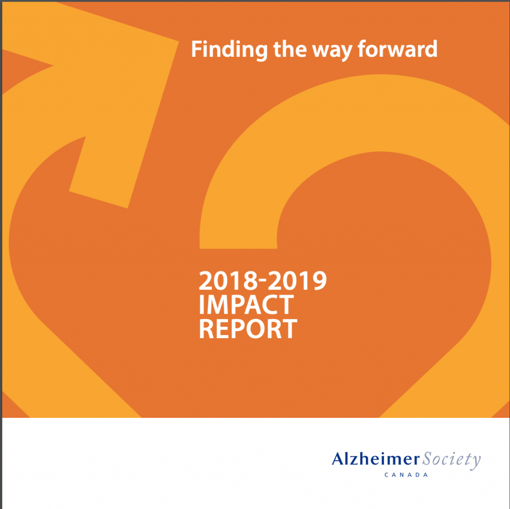 Alzheimer Society of Canada 2018-2019 impact report.