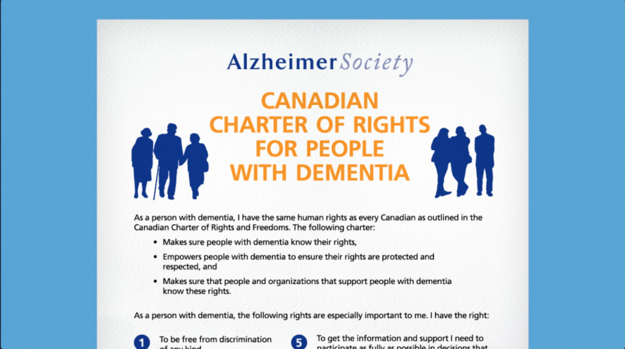 Canadian Charter of Rights for People with Dementia (thumbnail).