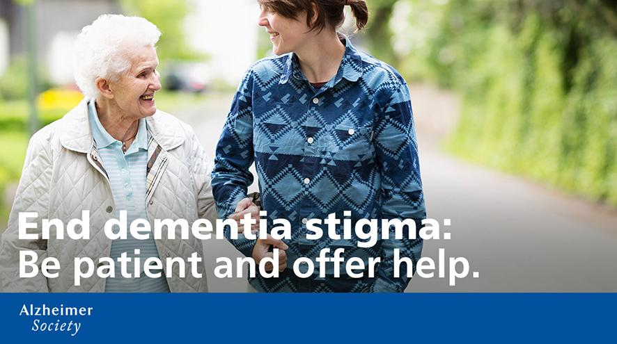End dementia stigma: Be patient and offer help.