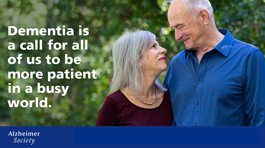 Dementia is a call for all of us to be more patient in a busy road.