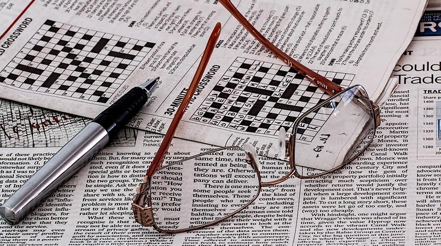 A game of crossword. Image by Steve Buissinne from Pixabay.