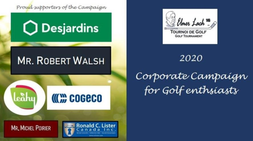 Corporate golf campaign logos