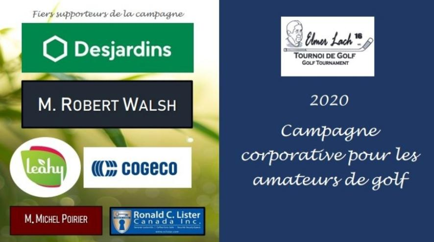 Logos de la campagne corporative de golf