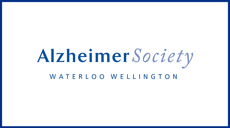 Alzheimer Society Waterloo Wellington wordmark and identifier.