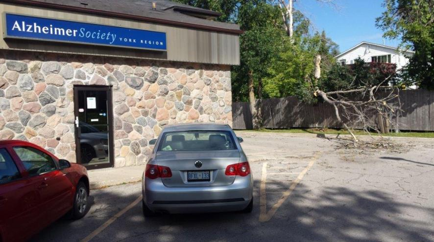 Side view of the Alzheimer Society of York Region's Georgina office, which is open by appointment