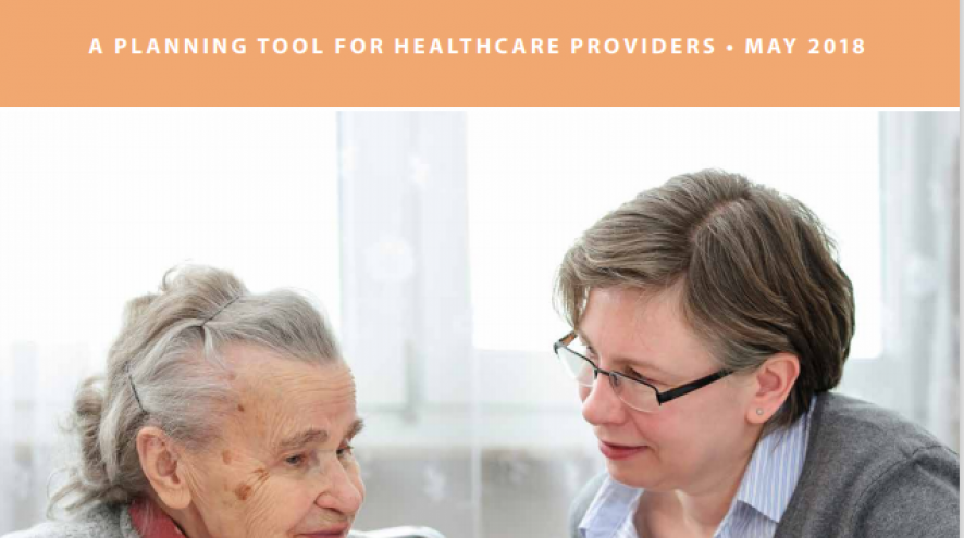 Front cover image of the Caregiver Support Framework with a senior woman with a younger woman.